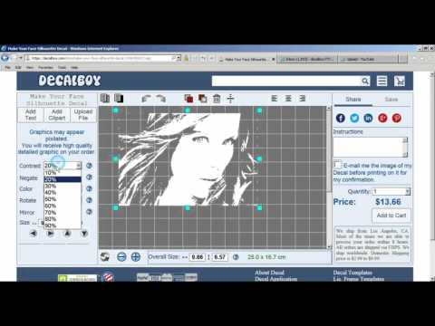 Upload Photo To Convert It Into Single Color Decal YouTube - Decal graphics software