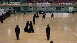 FUKUOKA vs OSAKA 11th All Japan Interprefecture Ladies KENDO Championship 2019 3rd Round
