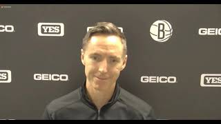 Coach Steve Nash Postgame - Nets beat the Spurs in overtime