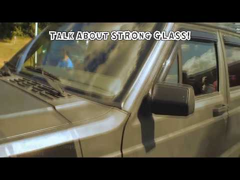 Trying To BREAK a Windshield w/ LOUD Sound System BASS | GLASS Window Car Audio FLEX