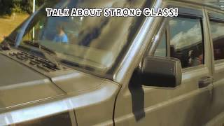 Trying To BREAK a Windshield w/ LOUD Sound System BASS | GLASS Window Car Audio FLEX