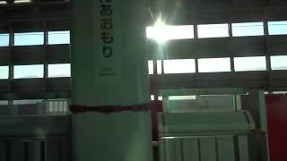 新青森駅を出発して堺正幸さんのアナウンスが流れる北海道新幹線はやてE5系の車窓