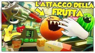 LAVORO E DIFENDO IL MIO SUPERMERCATO DALLA FRUTTA! - Shooty Fruity ITA (HTC Vive)