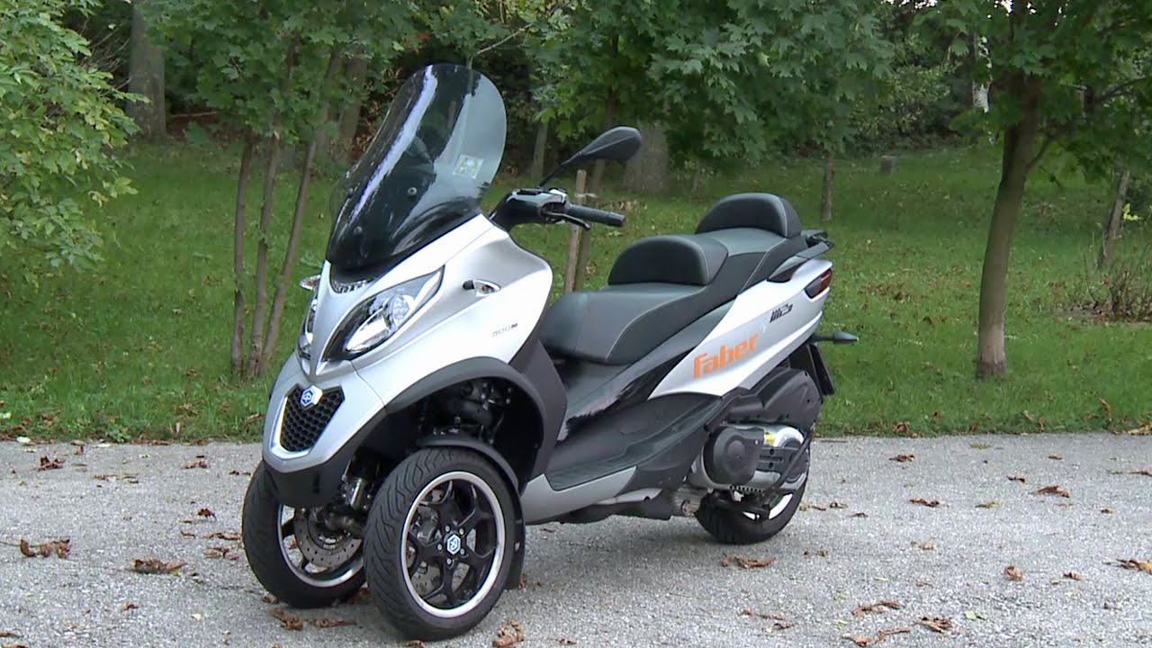 piaggio mp3 500 facelift 2014 abs/asr - youtube