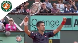 Repeat youtube video Top 5 moments at Roland Garros: Novak Djokovic's matches