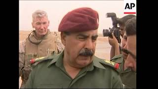 Iraqi general comments on handover