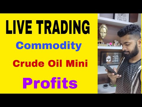 LIVE TRADING -Commodity- Crude oil Mini (MCX) Profits