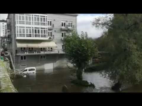 Inundaciones en Baños de Molgas y alerta amarilla por nieve 13 11 19