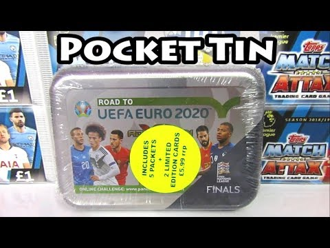 New Panini Adrenalyn XL Road To Euro 2020 Pocket Tin Opening | 2 Limited Editions | Top Master