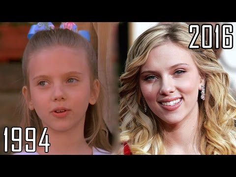 Scarlett Johansson 19942016 all movies list from 1994! How much has changed? Before and Now!