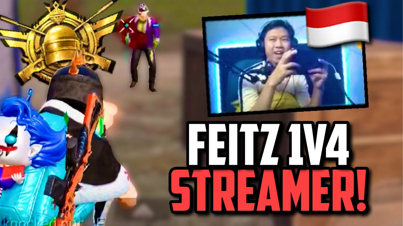 INDONESIAN STREAMERS REACTION TO FEITZ SQUAD WIPING HIM! | PUBG Mobile