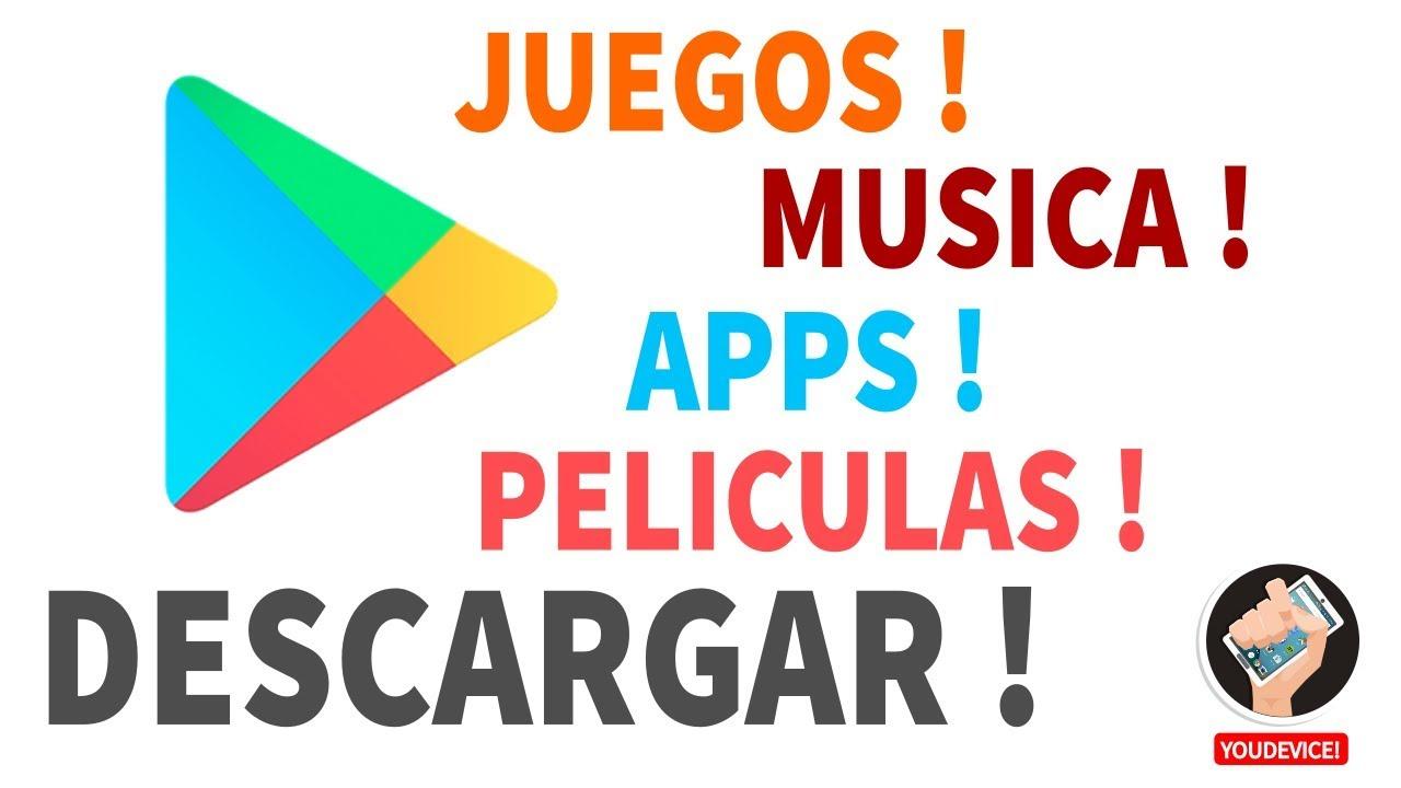 Como Descargar Aplicaciones Juegos Musica Peliculas Desde Play Store Android Youtube