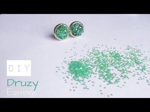 DIY Druzy Stud Earrings | How to make faux druzy earrings