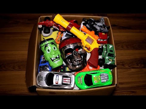 Box of Toys: Action Figures, Batman, Cars, Frozen and More