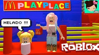 I've been to my baby Goldie to play Mc Donalds in Roblox! Mcdonaldsville Roleplay