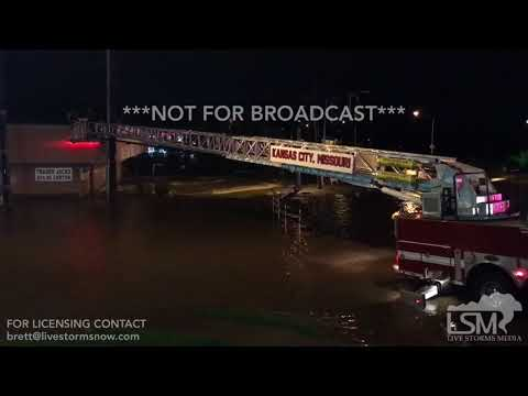08/22/2017 - Kansas City, MO - flash flooding and water rescue