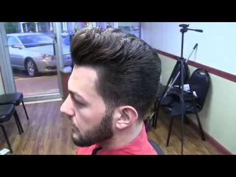 How to do a Classic Men's Scissor Cut with Pompadour Step by Step