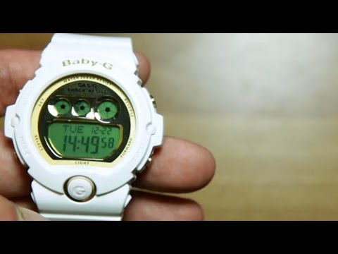8fc8cd1d9207 Casio Baby-G BG-6901-7  WHITE   GOLD - YouTube