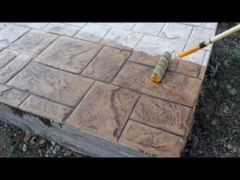 Лак для бетона и тротуарной плитки