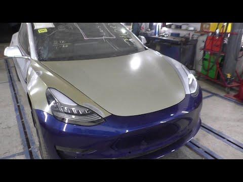 Tesla Model 3 .    ремонт дтп рихтовка