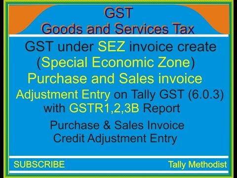 Purchase and Sales invoice create against SEZ(Special Economic Zone) party