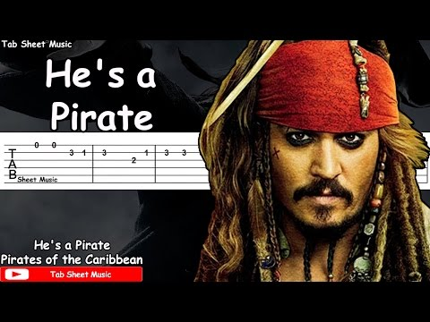Pirates of the Caribbean - He's a Pirate Guitar Tutorial