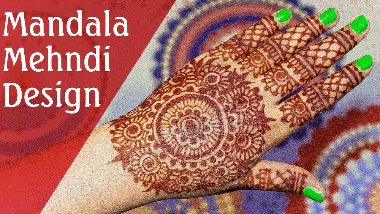 Traditional Full Hand Circular Mandala Mehndi Designs Unique