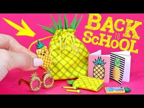 🌟 7 ИДЕЙ! 🍍 BACK TO SCHOOL в стиле АНАНАС 😍 СВОИМИ РУКАМИ DIY Мастер класс Анна Оськина