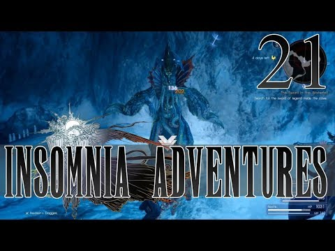 |21| Insomnia Adventures (Final Fantasy XV Playthrough) Behind the Waterfall