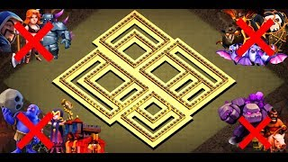 Coc | New Th10 Best Anti 3 Star War Base | Anti Bowitch -Golem Hog Valks | With Tested Replay