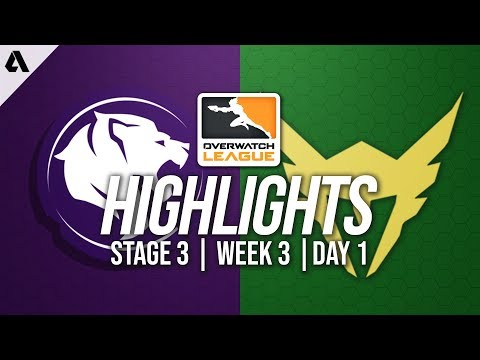 Los Angeles Gladiators vs Los Angeles Valiant | Overwatch League Highlights OWL Stage 3 Week 3 Day 1