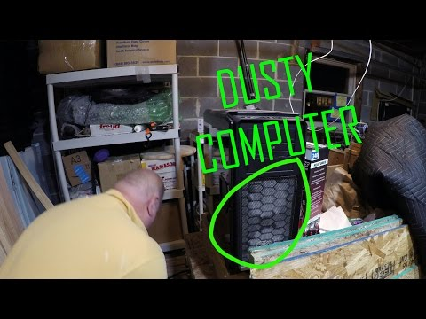 Using an Air Compressor to Clean Computer with an Air Nozzle Attachment - PC Dust Elimination