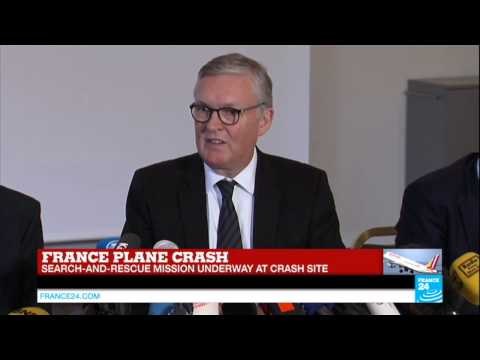 CRASH IN THE ALPS - Germanwings CEO gives a conference on Alps plane crash
