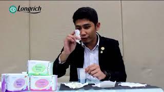 LONGRICH Superbklean MAGNETIC ENERGY Sanitary Napkin DEMO in Taglish