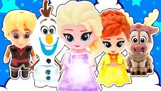 Магия ХОЛОДА! Амелькины Игрушки из Холодное Сердце Волшебные! Почему все они Светятся?