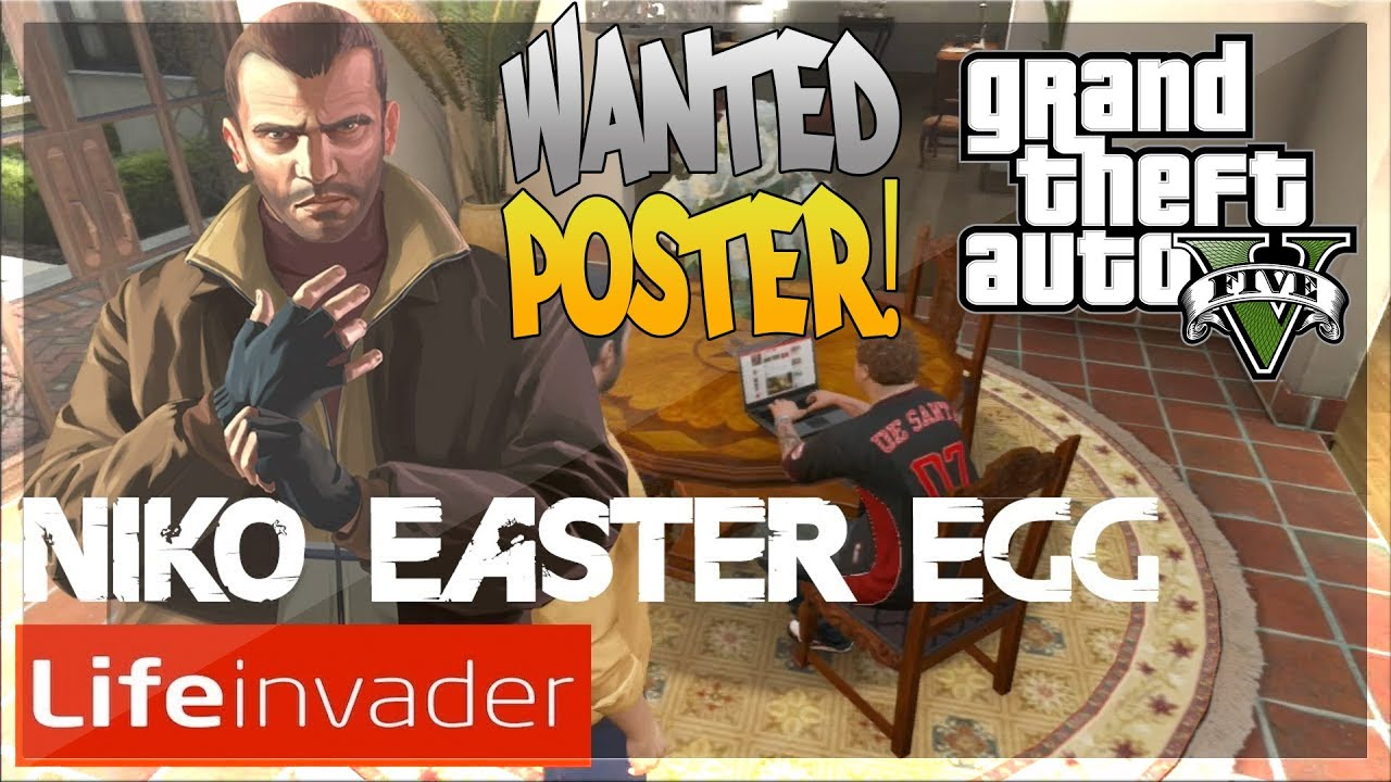 GTA 5 Online: Niko Bellic - Wanted Poster Easter Egg ...