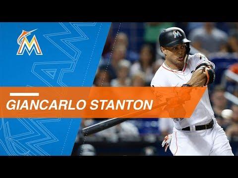 Giancarlo Stanton's 40 home runs