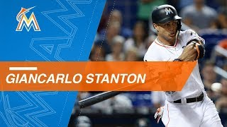 Giancarlo Stanton's 40 home runs