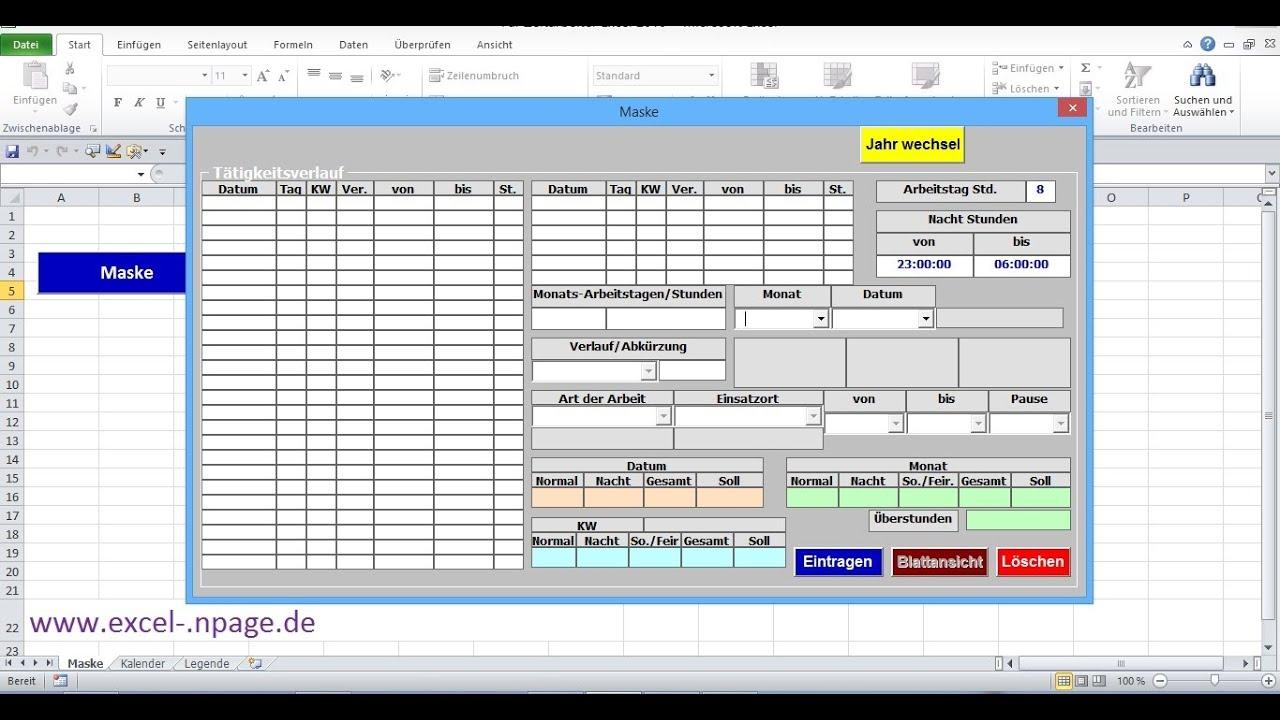 3_Zeiterfassungsprogramm in Excel selber erstellen