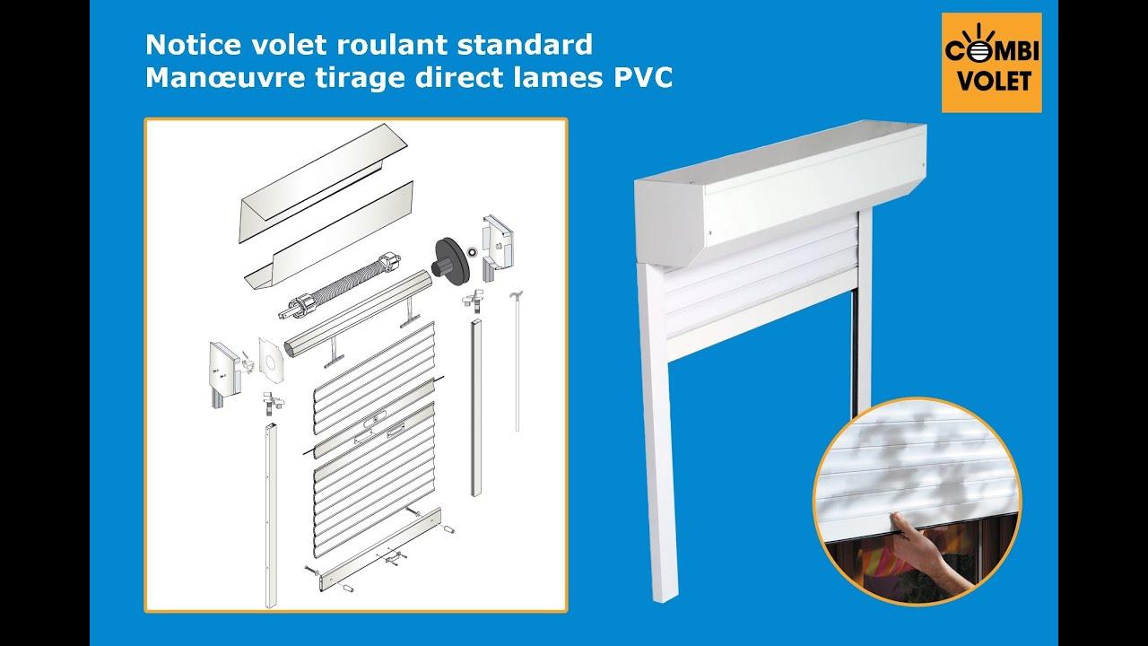 Notice De Montage Kit Eco Volet Roulant Tirage Direct Pvc Youtube