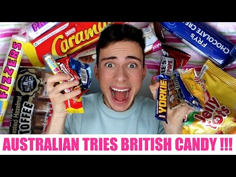 AUSTRALIAN TRIES BRITISH CANDY!!! (ULTIMATE TASTE TEST)
