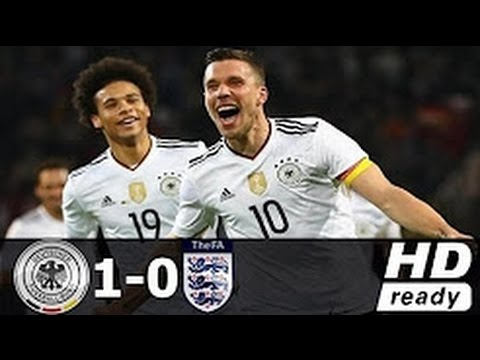 Germany vs England 1 0 Lukas Podolski Goal and Highlights Friendly 2017 HD