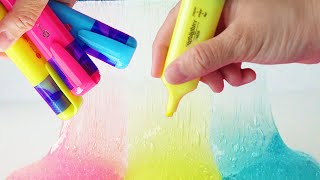 How To Make Slime with Highlighter DIY Slime No Borax or Liquid Starch by Bum Bum Surprise Toys