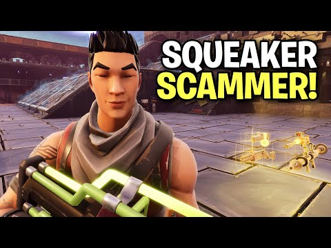 Crazy Little Squeaker almost scammed me! 😂 (Scammer Get Scammed) Fortnite Save The World