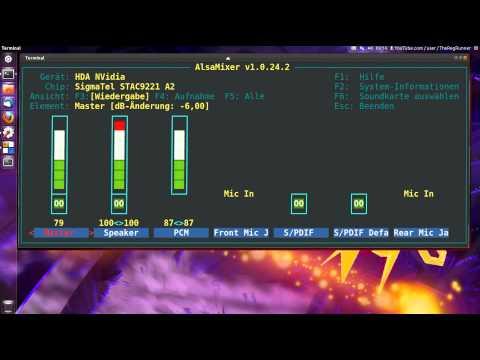 Ubuntu 11.10 : Alsamixer (Terminal Version)