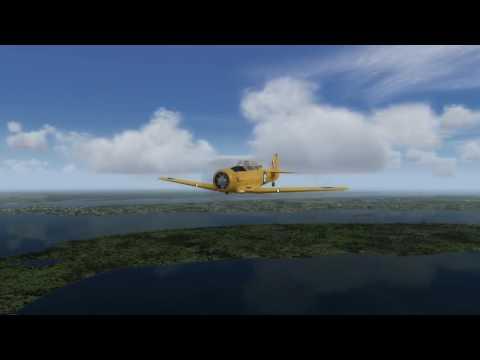 A2A T-6 Texan. A flight across Narragansett Bay RI.