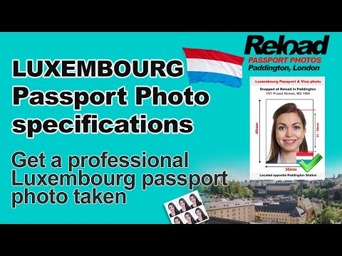 Luxembourg Passport Photo and Visa Photo snapped in Paddington, London