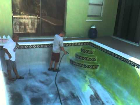 Swimming Pool Acid Wash Pool Stain Removal Youtube