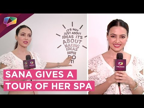 Sana Khan Gives A Walk Through Her Spa  Shares Beauty Tips  Exclusive