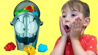 Funny baby Vlad & Loony Bin / Learn colors with kids toys / Educational kids video/ Чокнутое ведро